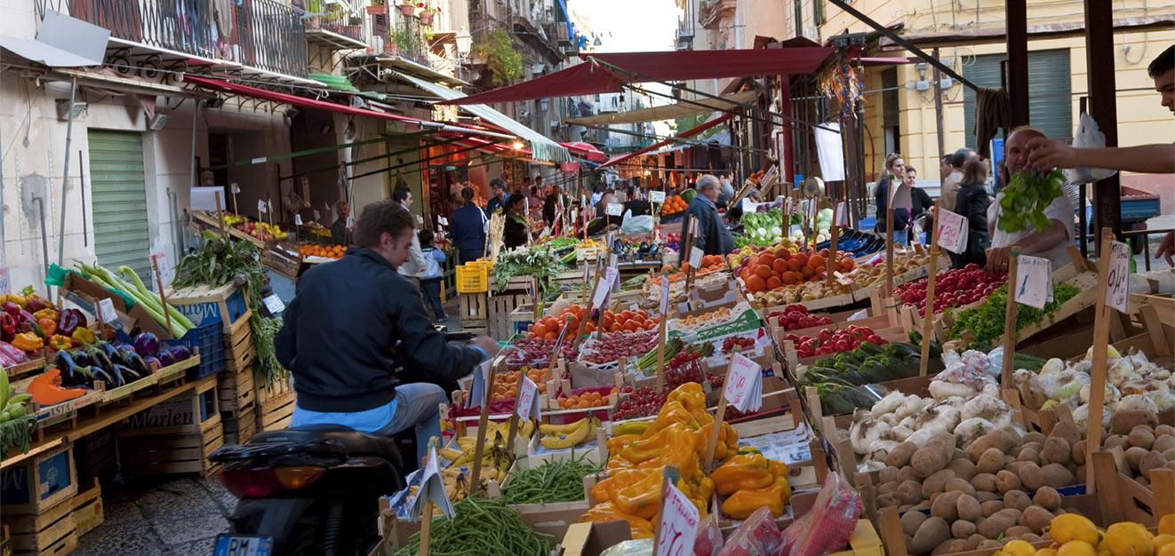 Proslulé trhy v Palermu